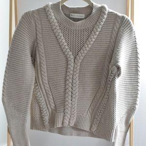 White + warren knit sweater